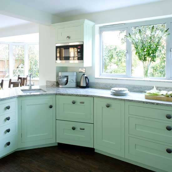 Refinishing Melamine Kitchen Cabinets: Tasty Turquoise Kitchens