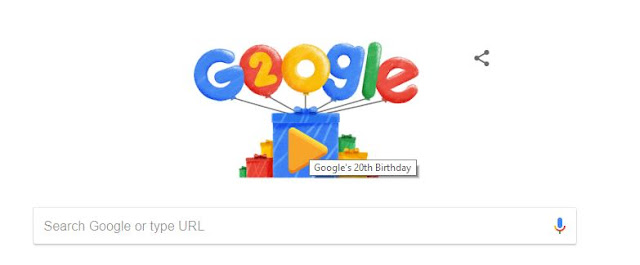 HAPPY BIRTHDAY GOOGLE !