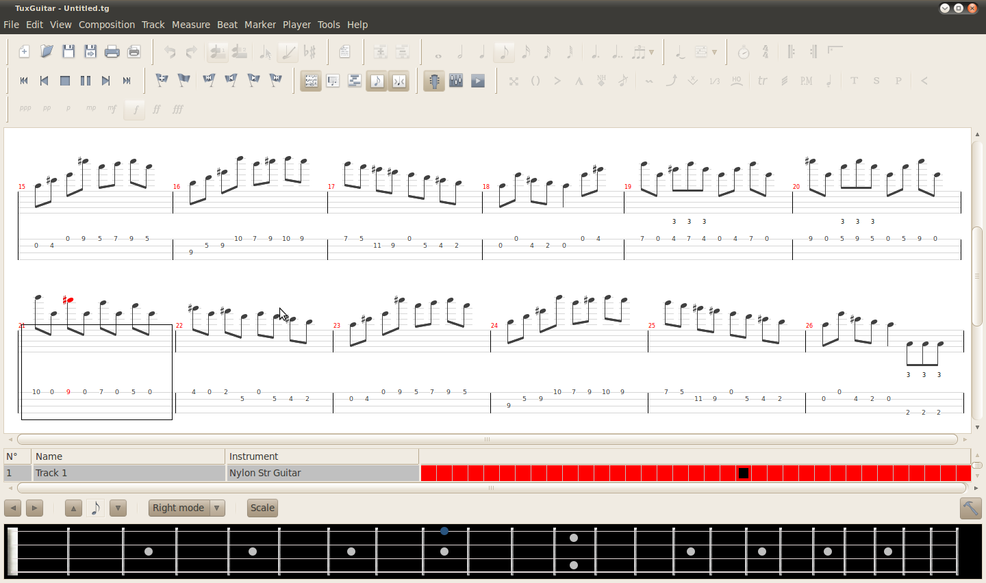 Random Thoughts: Tablature software for guitar, mandolin, etc
