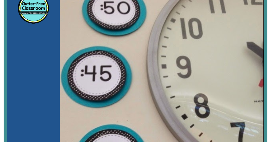 graphic regarding Printable Classroom Labels known as PRINTABLE CLASSROOM CLOCK LABELS towards Coach TELLING Period