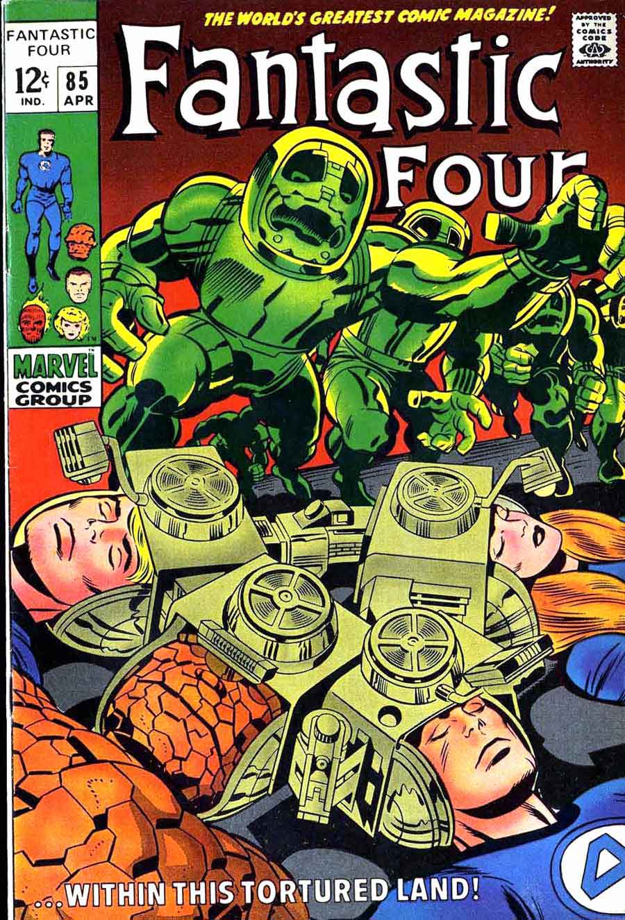 Fantastc Four v1 #84 marvel 1960s silver age comic book cover art by Jack Kirby