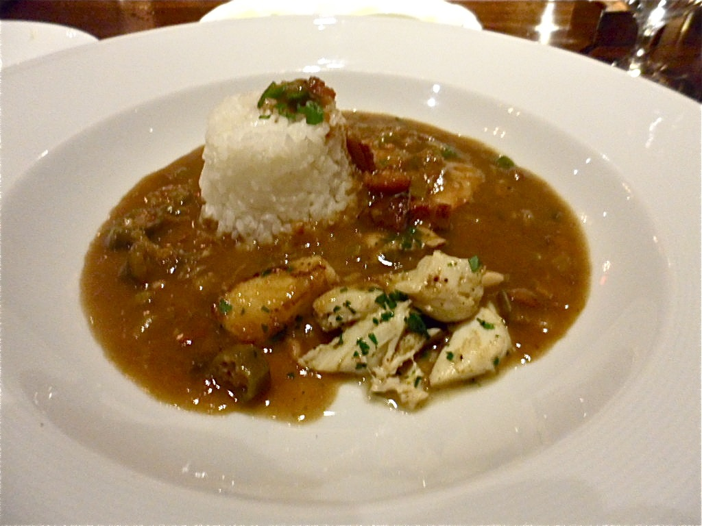 Seafood Gumbo At Restaurant R Evolution