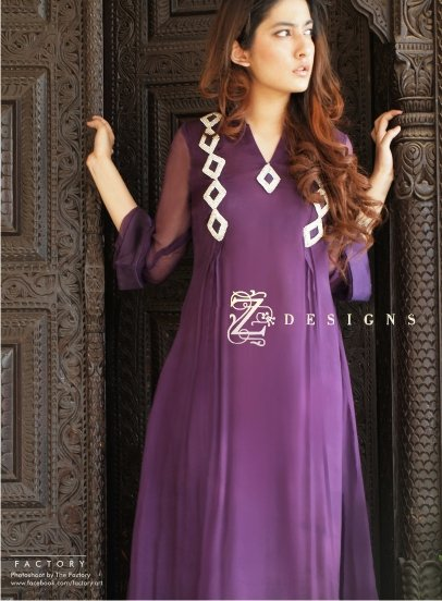 cf7829c4e5 Z Designs Formal Collection 2011. Yellow semi formal Pakistani dresses 2011.  Latest Pakistani Fashion Bridal Wear