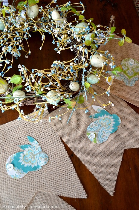 Easter Bunner Fabric Banner DIY