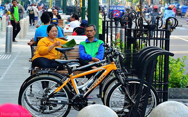 Sepedaku terparkir di fasilitas parkir Malioboro