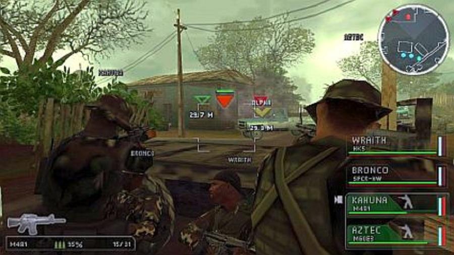 Daftar Kumpulan Game 3D FPS Tembak Tembakan Di PSP PPSSPP (Gameplay) : SOCOM: Navy Seal Fireteam Bravo