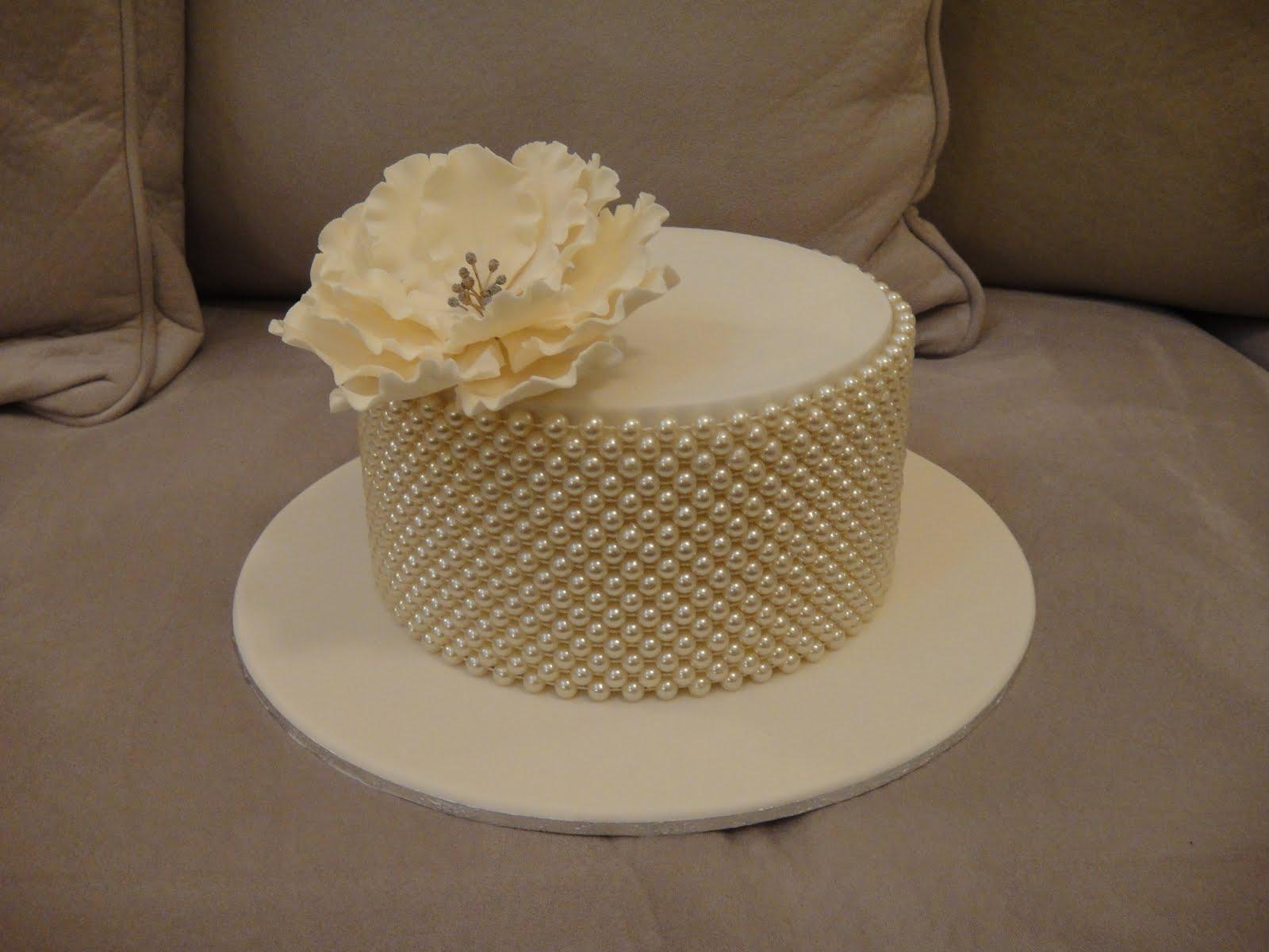 Cupcakes N More Pearl Anniversary Cake