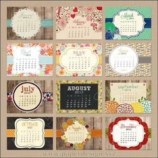 Kalender duduk | Desain kalender duduk