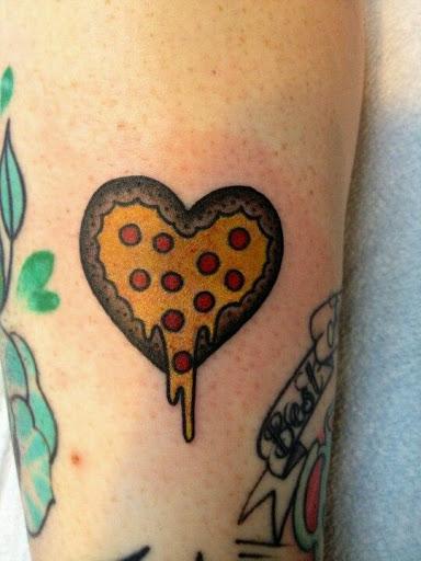 O amor para pizza