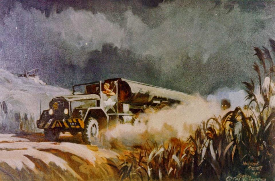 Convoy from Cu Chi to Tay Ninh, Vietnam 1967 by William Linzee Prescott