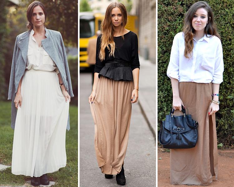 Cómo combinar una falda larga este otoño  feba7167a2ac