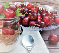 porridge con ciliegie