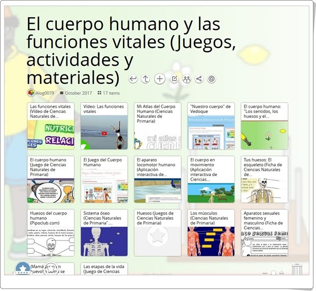"""""""18 Juegos, actividades y materiales didácticos sobre EL CUERPO HUMANO Y LAS FUNCIONES VITALES de 4º de Primaria"""""""