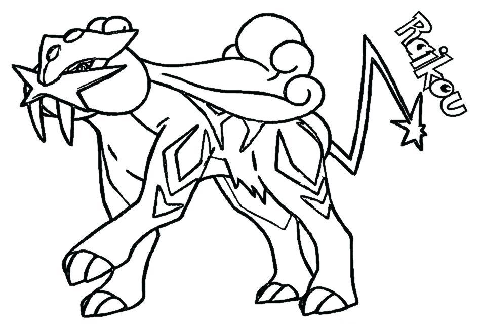 raikou pokemon coloring page