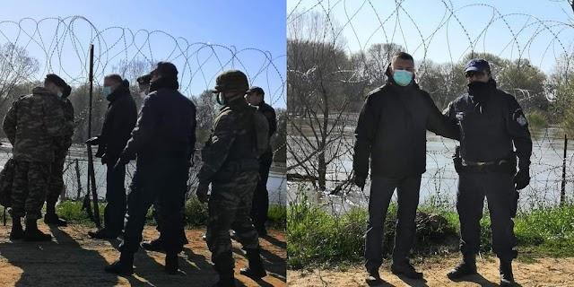 Διήμερη περιοδεία-επιθεώρηση του ΥΦΕΘΑ Αλκιβιάδη Στεφανή στα σύνορα του Έβρου