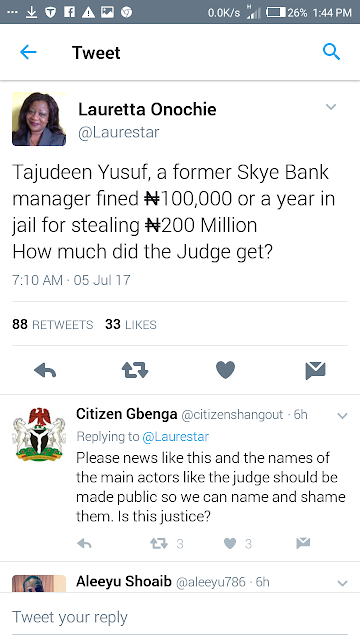 Buhari's aide reacts after a former bank manager got N100k fine for a N200m fraud