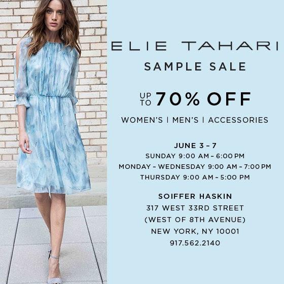 Elie Tahari sample sale