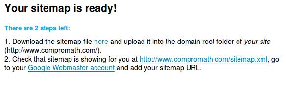 Sitemap Ready