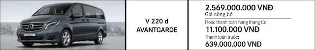 Giá xe Mercedes V220 d Avantgarde 2017 tại Mercedes Trường Chinh