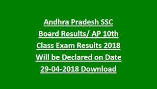 Andhra Pradesh SSC Board Results AP 10th Class Exam Results 2018 Will be Declared on Date 29-04-2018 Download Now