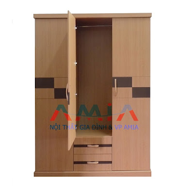 Tủ quần áo giá rẻ 3 cánh tại kho nội thất AmiA