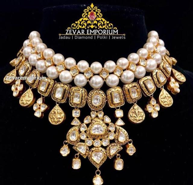 Uncut Diamonds Sets by Zaveri Emporium