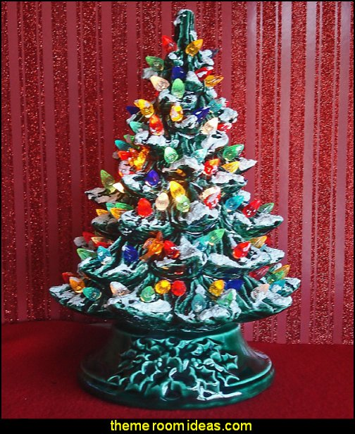 Christmas Decoration - Lighted Ceramic Christmas Tree - Lighted Christmas Tree