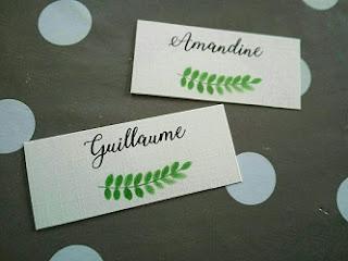 Marque-place pour table de mariage, imprimés à la maison