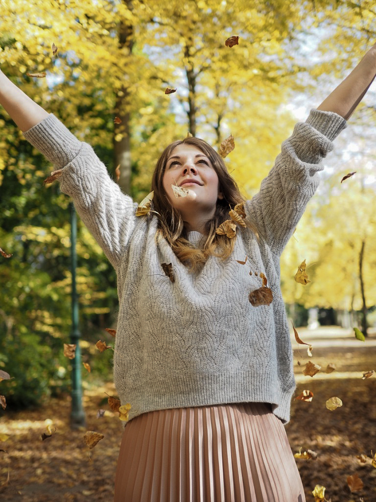 Enjoy falling leaves