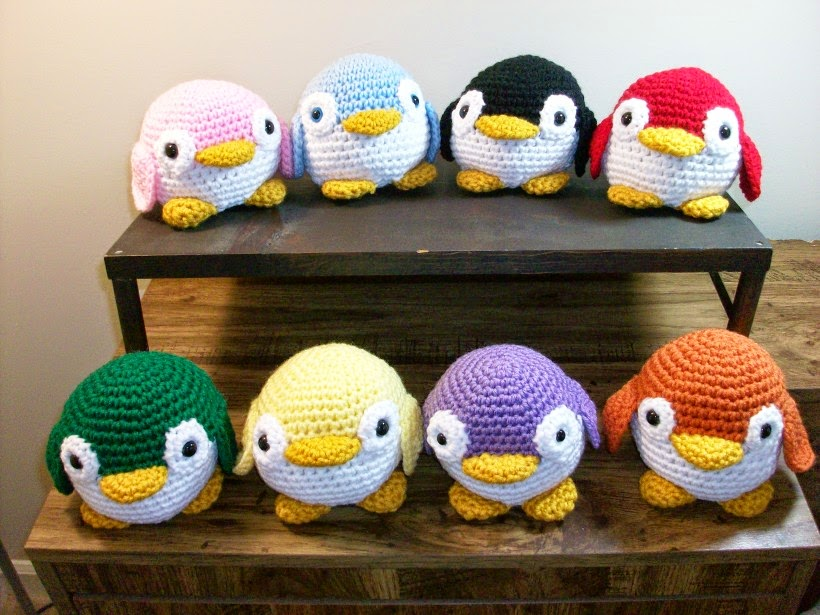 A colony of plush penguins