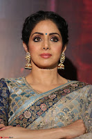 Sri Devi in designer saree stunning beauty at the launch of MOM movie Trailer~  Exclusive 083.JPG