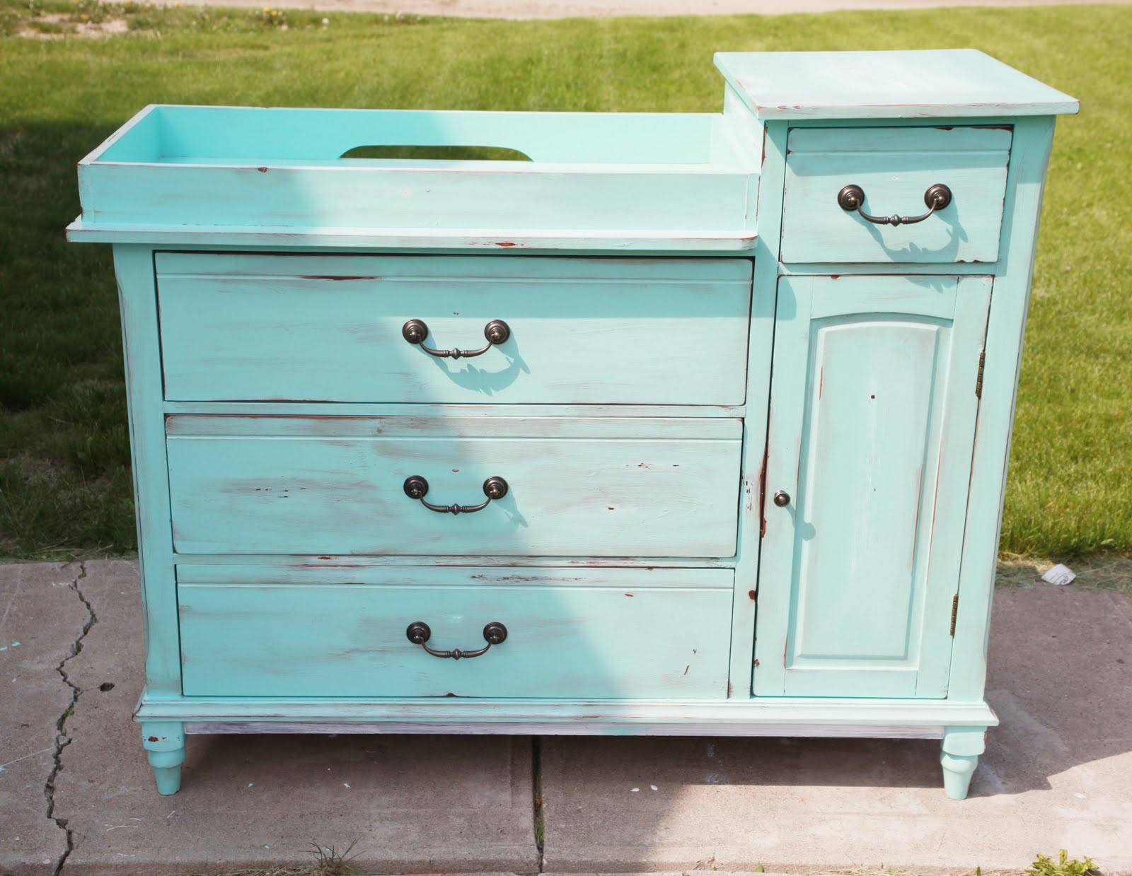 achieving proverbs 31 baby nursery part iii my artsy changing table redo. Black Bedroom Furniture Sets. Home Design Ideas