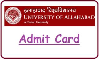 AU Allahabad Admit card 2019