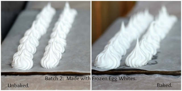 A meringue baking comparison, looking at fresh, frozen and pasturised egg whites.