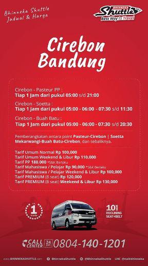 Travel Bandung Cirebon - Jadwal Berangkat & Tarif