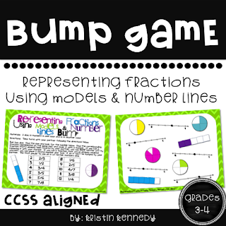 FREE Fraction Bump Game: Students practice identifying fractions on a number line and with models in a fun, competitive way.