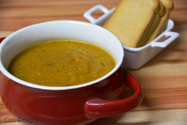 מרק כתום לחורף חם orange soup for warm winter