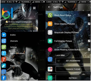 BBM Whatsapp Mod v 2.12.0.09 Spiderman Black