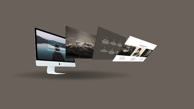 Perspective iMac Screen Mockup Free PowerPoint Template Slide 2