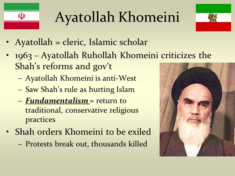 Image result for The students, supporters of Muslim cleric Ayatollah Khomeini