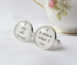 image cufflinks two cheeky monkeys moby dick quote literature i try all things; i acheive what i can for him handmade