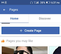 Facebook Page in Mobile