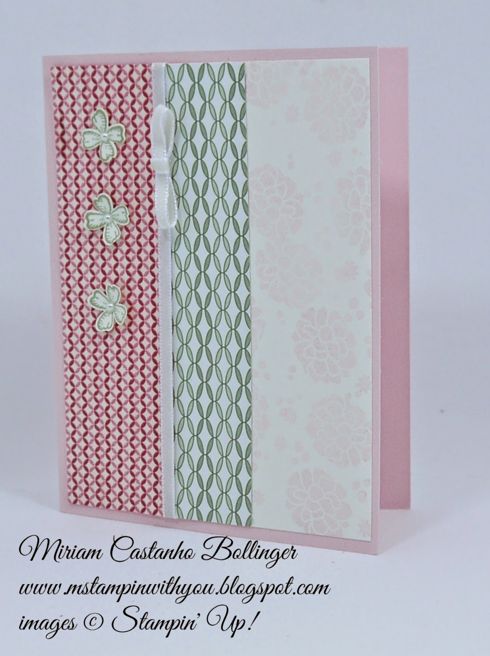 Miriam Castanho Bollinger, #mstampinwithyou, stampin up, demonstrator, rs, all occasions card, pocket full of posies dsp, perpetual birthday calendar, something to say stamp set, gingham garden DSP washi tape, itty bitty accents punch, su