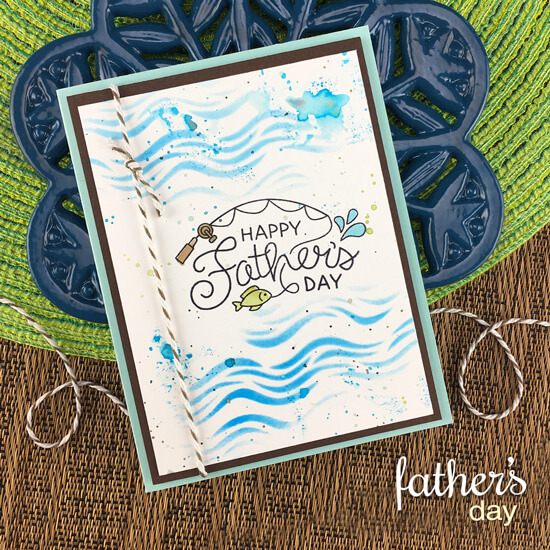 Father's Day card by Jennifer Jackson | Father's Day Stamp Set and Waves Stencil by Newton's Nook Designs #newtonsnook #handmade