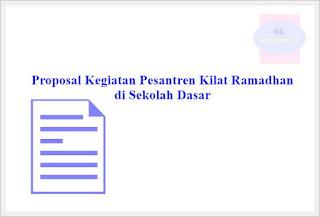 proposal kegiatan pesantren kilat ramadhan sd