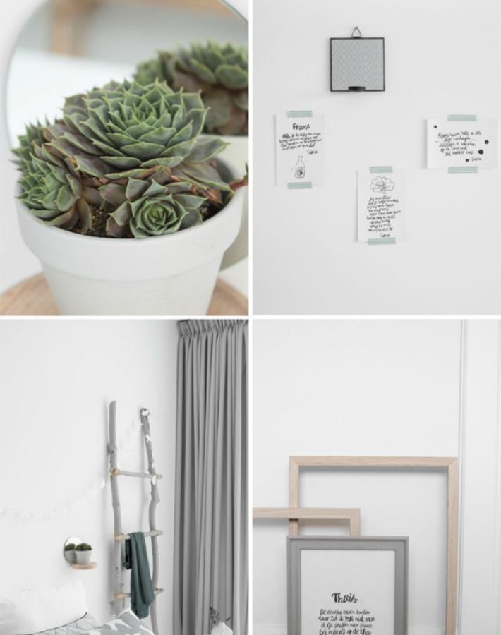 Sereno y natural dormitorio escandinavo
