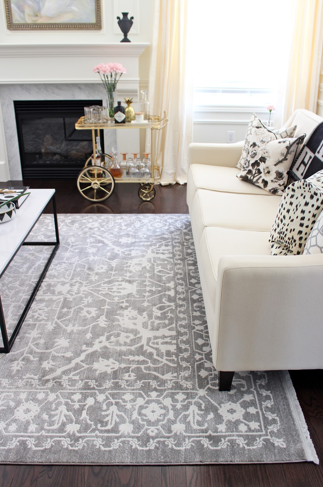 Am dolce vita living room new rug - Living room area rugs ...