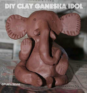 DIY Clay Ganesha Idol