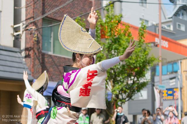 江戸っ子連、女踊り、マロニエ祭り流し踊り中の演舞の写真 その8