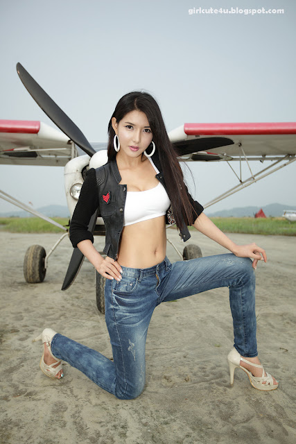 4 Cha Sun Hwa-Sexy Pilot-very cute asian girl-girlcute4u.blogspot.com